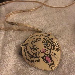 Mini gold tiger bag